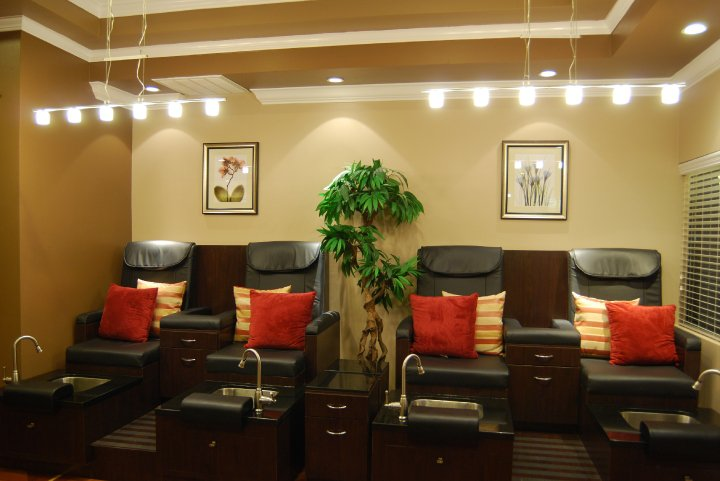 Come in an enjoy a pedicure in our relaxing spa chairs!